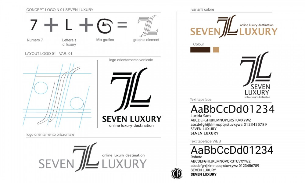 cr fashion seven luxury concept logo